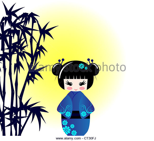 586x540 Geisha Clipart Kokeshi Doll Free Collection Download And Share