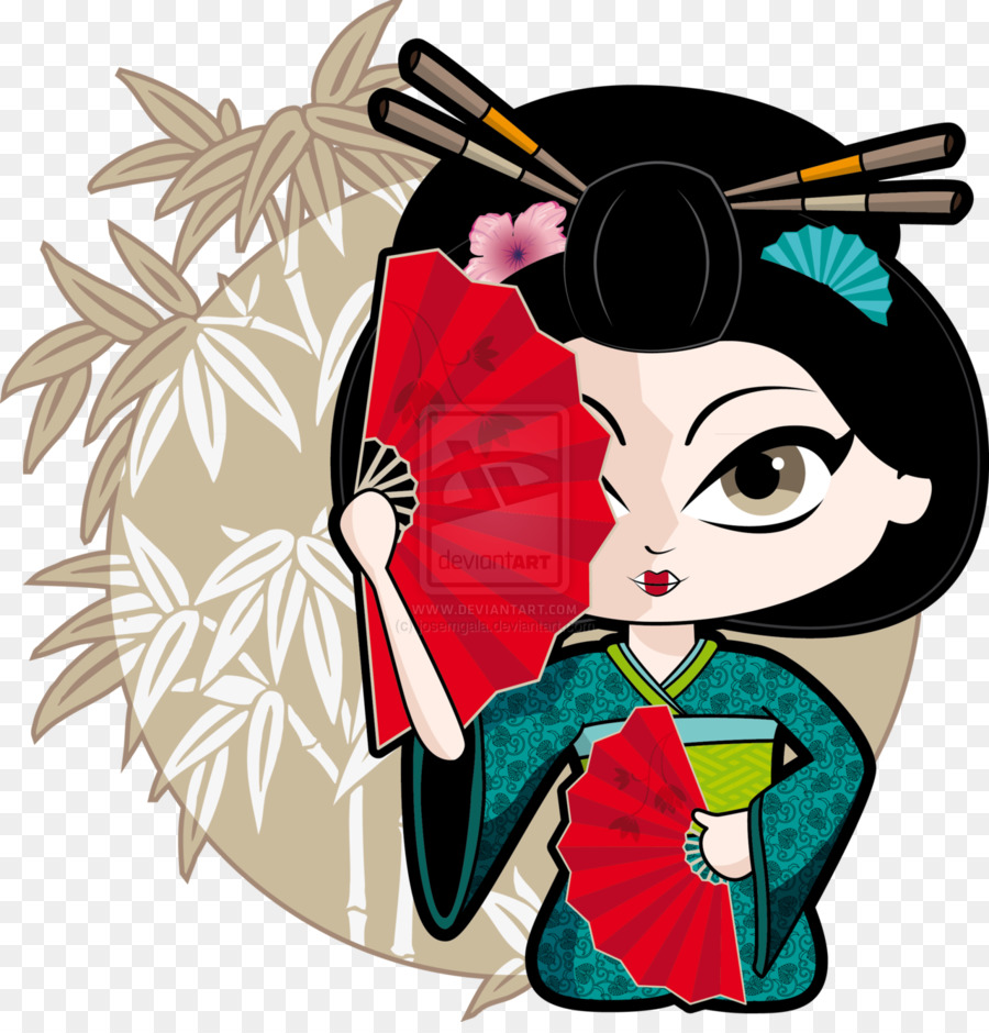 900x940 Geisha Drawing Clip Art