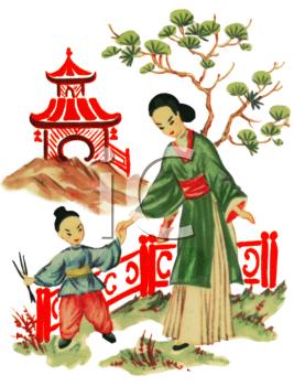 Geisha Girl Clipart