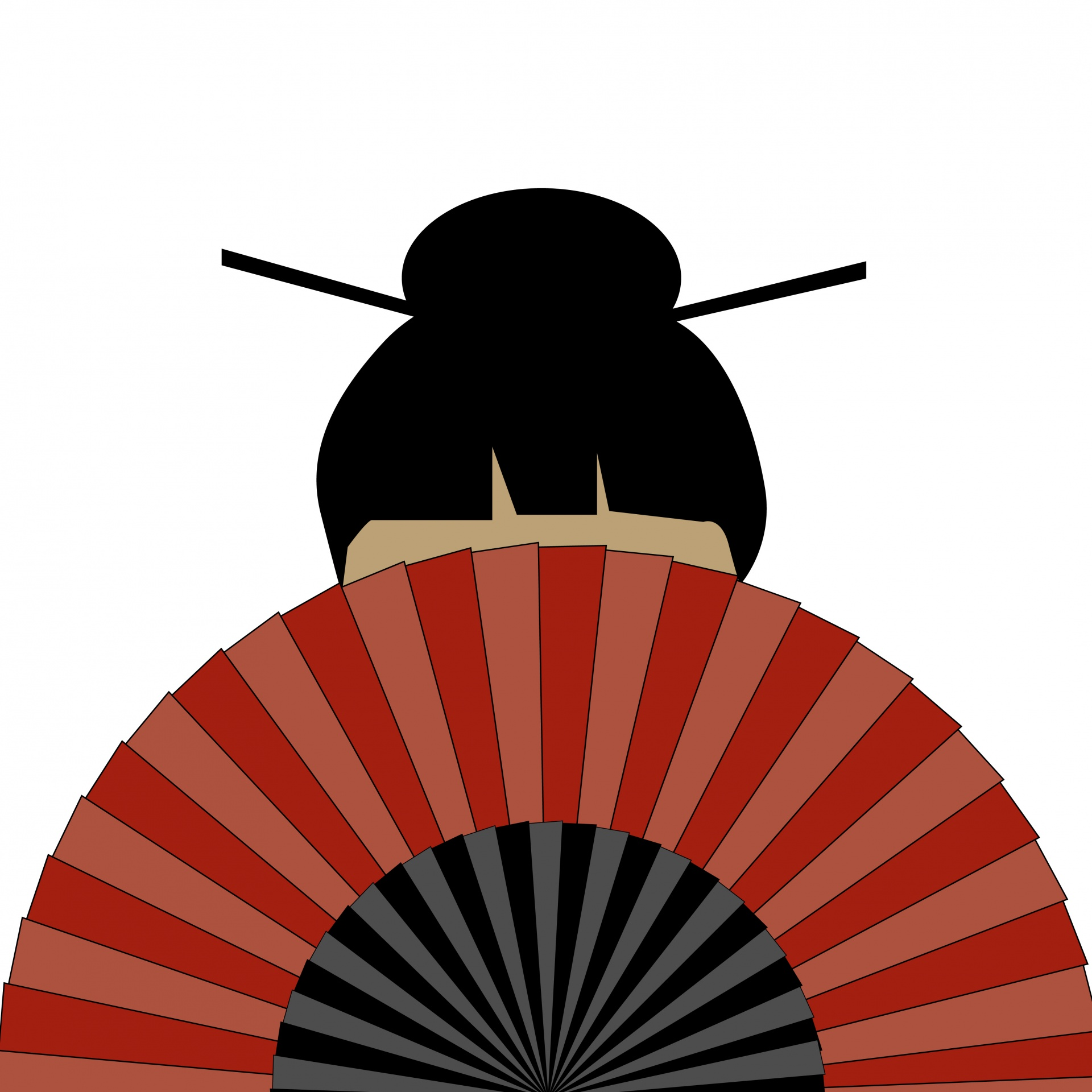 1920x1920 Geisha Girl With Fan Free Stock Photo