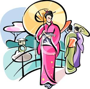 300x297 Geisha Clipart Cartoon