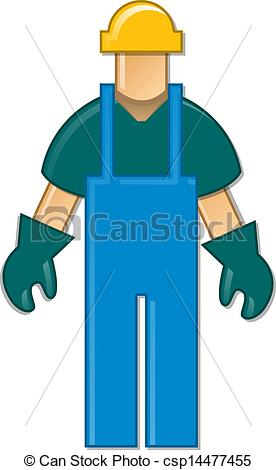 276x470 Generic Symbol Of A Blue Collar Worker. Whole Figure Clipart