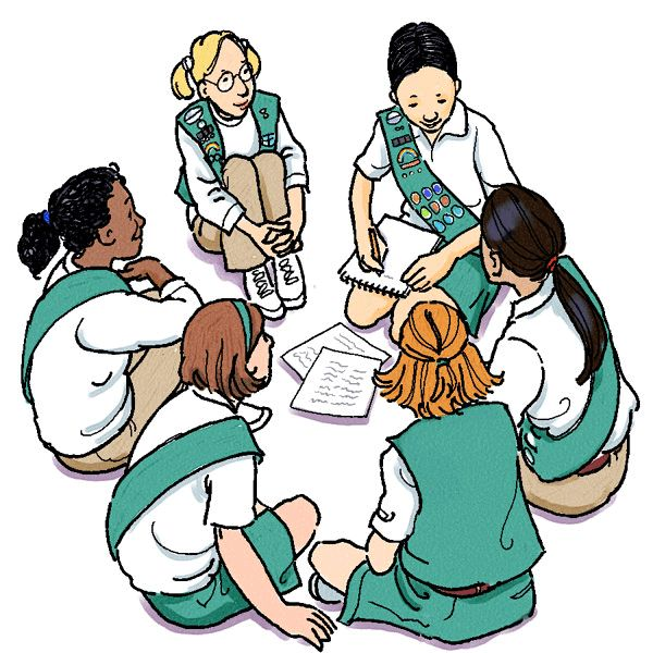 600x600 Girl Scout Clip Art Generic On Girl Scouts Girl