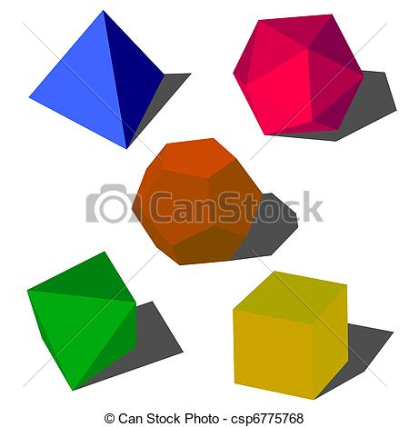 450x470 Colorfull 3d Vector Geometric Shapes Vector
