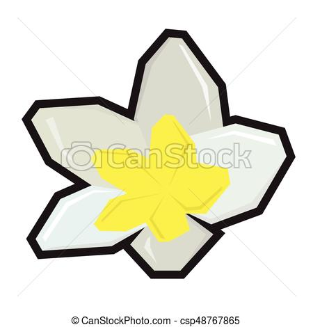 450x470 Isolated Geometric Flower On A White Background, Vector Clip