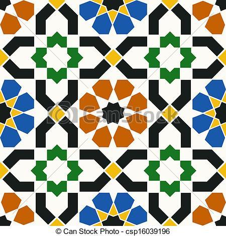 450x470 Seamless Islamic Geometric Pattern Eps Vectors
