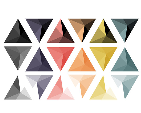 570x457 Abstract Triangle Studs Clipart Geometric Digital Clip Art