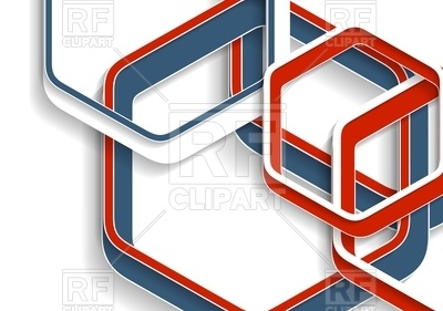 400x281 Abstract Red And Blue Hexagons Tech Geometric Background Royalty