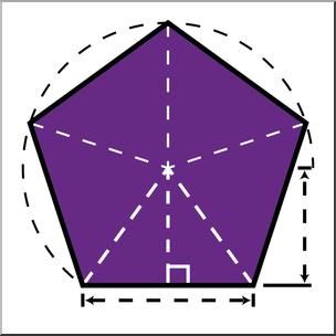 304x304 Clip Art Shapes Pentagon Geometry Color I Abcteach