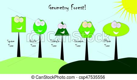 450x264 Geometric Shapes With Funny Faces Vector