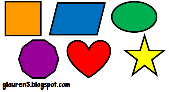 553x301 Ginger Snaps Clip Art Primary Geometric Shapes Set