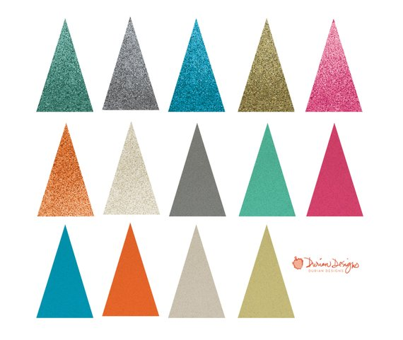 570x481 Glitter Triangles Commercial Use, Multi Color, Elegant Printable