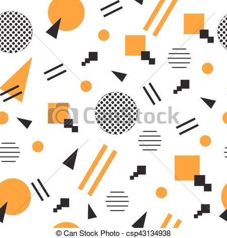 450x470 Minimalist Pattern With Geometric Shapes. Modern Background
