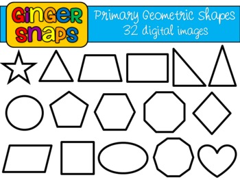 350x263 Primary Geometric Shapes Clip Art Set By Ginger Snaps Clip Art Tpt