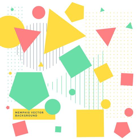 490x490 Colorful Background With Geometrical Shapes