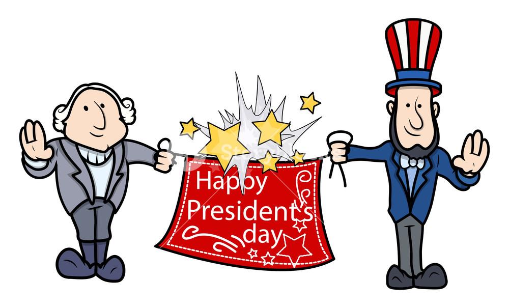 1000x605 George Washington Amp Abraham Linoln Greets Presidents Day Vector