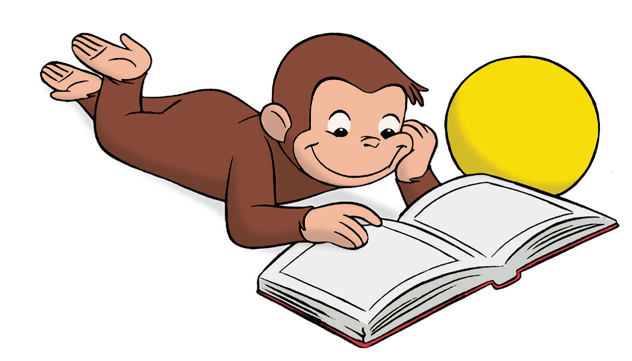 1264x722 Curious George Reading Clip Art Free Image
