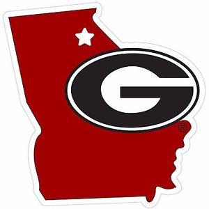 300x300 Georgia Bulldogs 11 Home State Magnet (Georgia Shape) Ncaa
