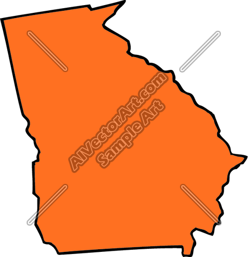 483x500 Georgia State Clipart And Vectorart Misc Graphics