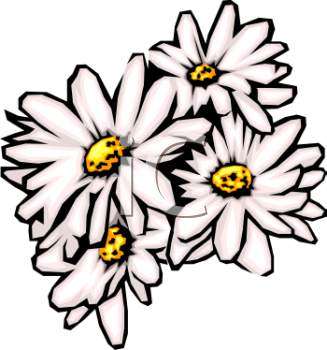 327x350 Gerbera Daisy Bouquet Clipart