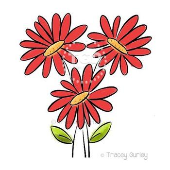 350x350 Red Gerbera Daisy Bouquet
