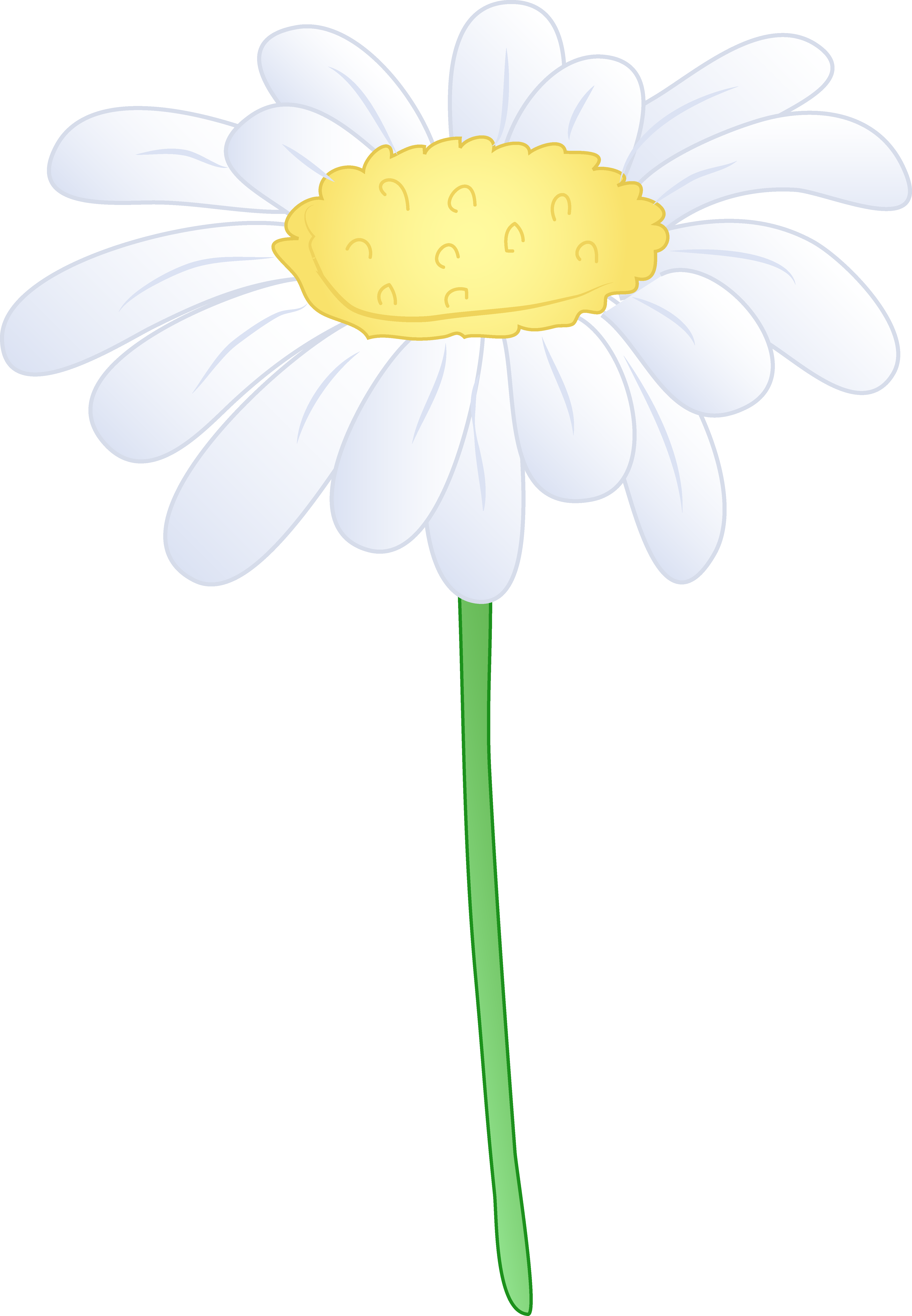 Gerber daisy clipart at getdrawings free for personal use 4682x6755 single white daisy flower free clip art izmirmasajfo