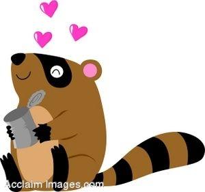 300x281 Cute Raccoon Clipart Clipart Panda
