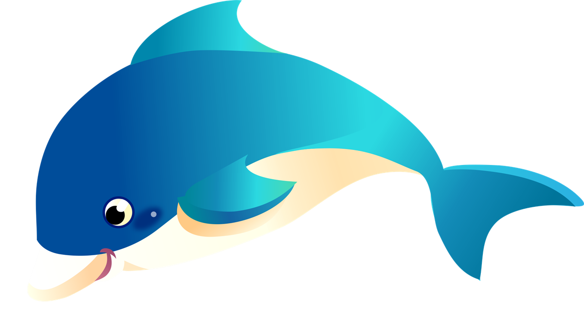 1200x649 This Happy Cartoon Dolphin Clip Art Is Licensed Under A Creative
