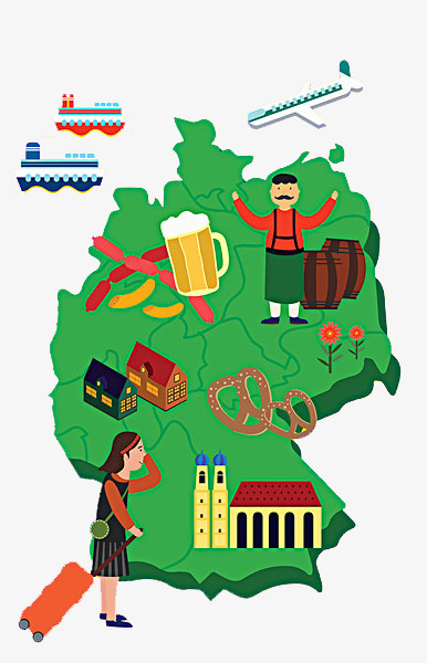 386x600 Cartoon Map Of Germany, Gourmet Map, Map, Germany Png Image