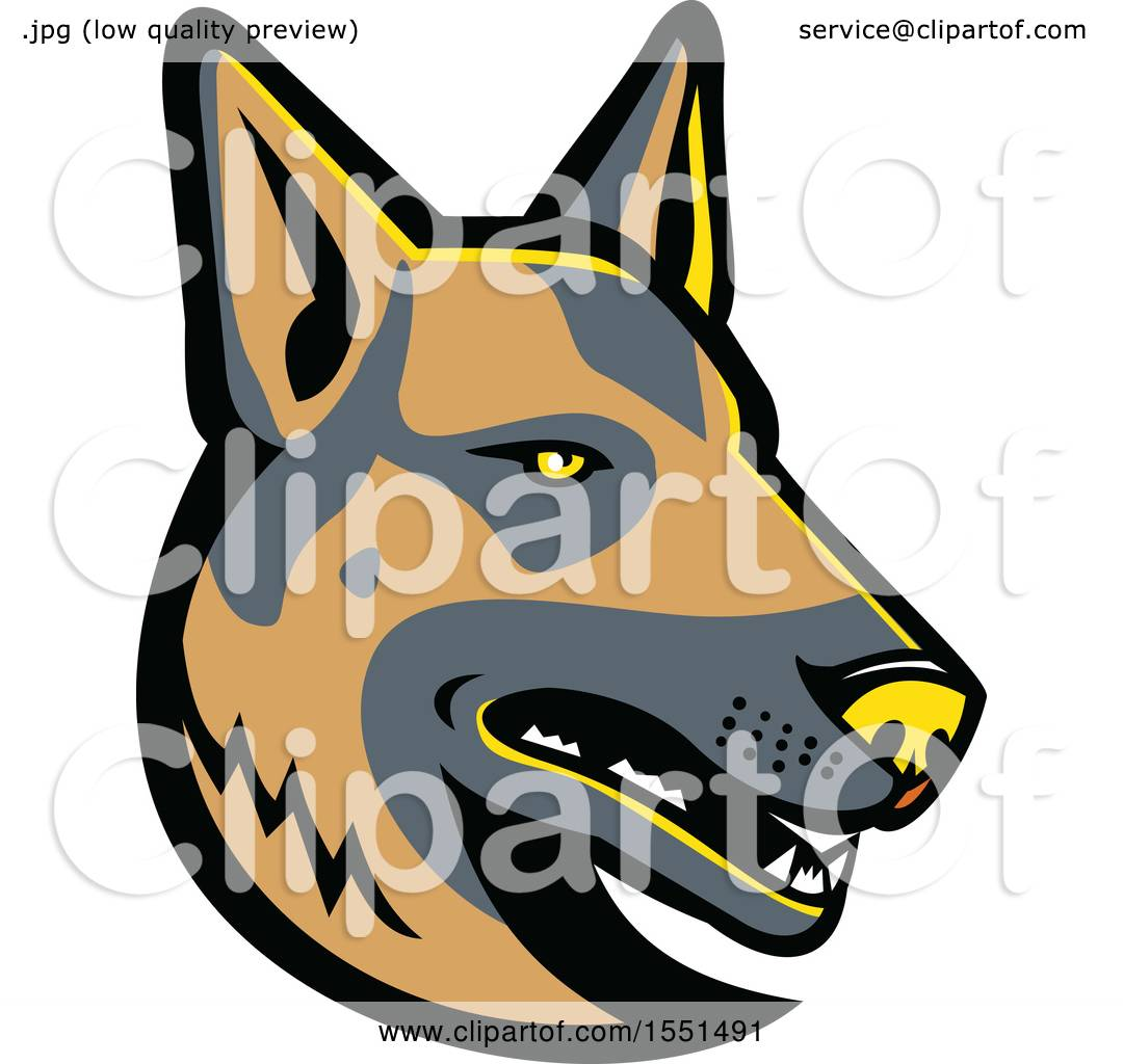 1080x1024 Clipart Of A German Shepherd Dog Mascot Head