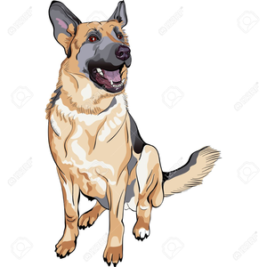 300x300 German Shepherd Christmas Clipart Free Images