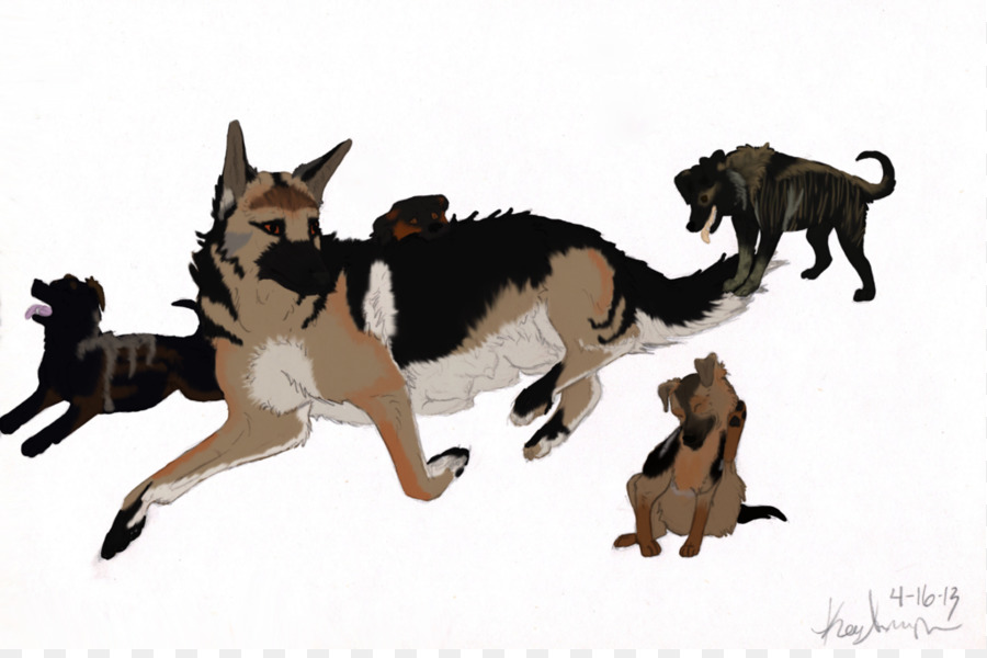 900x600 German Shepherd Dog Breed Puppy Clip Art