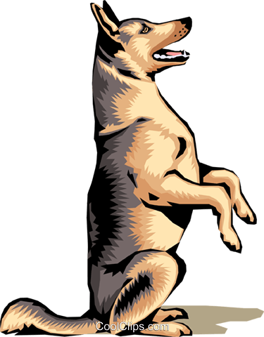 375x480 German Shepherd Royalty Free Vector Clip Art Illustration