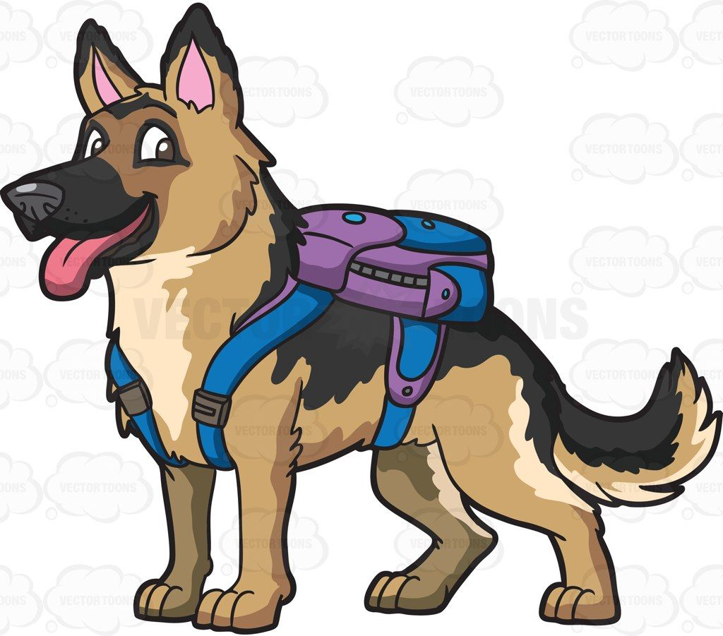 1024x901 A German Shepherd Carrying A Backpack German Shepherds, German