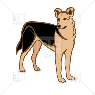400x400 German Shepherd Dog Royalty Free Vector Clip Art Image