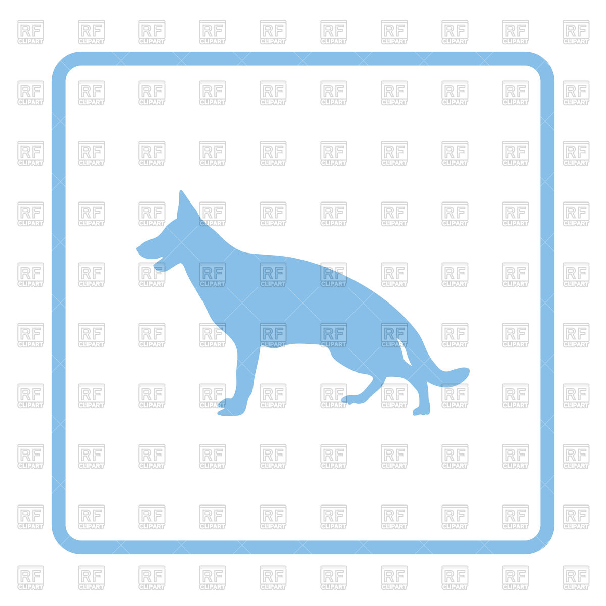 1200x1200 German Shepherd Icon Royalty Free Vector Clip Art Image