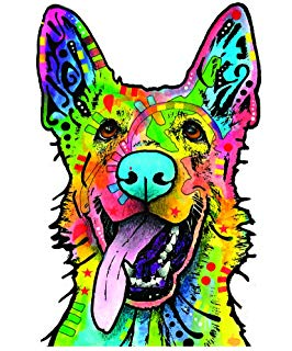 266x320 Dean Russo Love And A Dog German Shepherd Fleece Throw