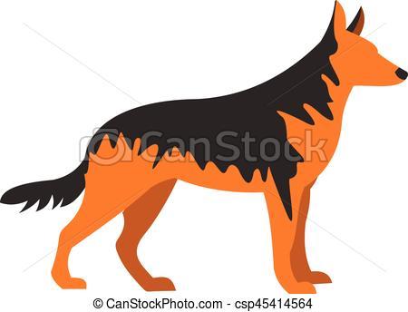 450x344 German Shepherd Dog Icon, Flat Style. German Shepherd Dog Icon