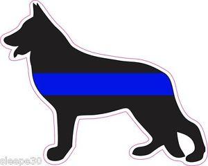 300x240 German Shepherd Thin Blue Line Police Dog K9 Unit Vinyl Window