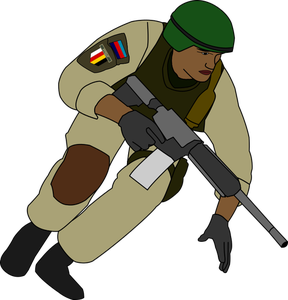 German Soldier Clipart