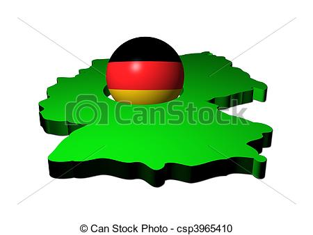 450x338 German Flag Sphere With Map Of Germany Illustration Stock