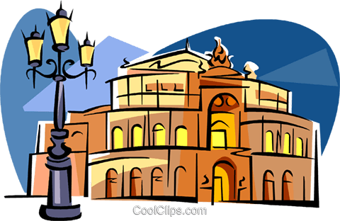480x312 Germany Dresden Opera Royalty Free Vector Clip Art Illustration