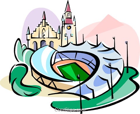 480x394 Germany Munich Olympic Stadium Royalty Free Vector Clip Art
