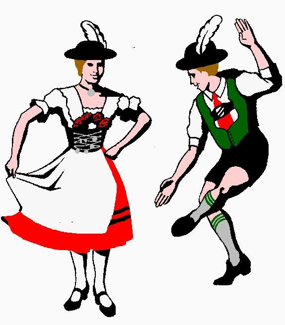 574x655 Germany Clipart Folk Dance