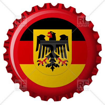 400x400 Germany Flag Royalty Free Vector Clip Art Image
