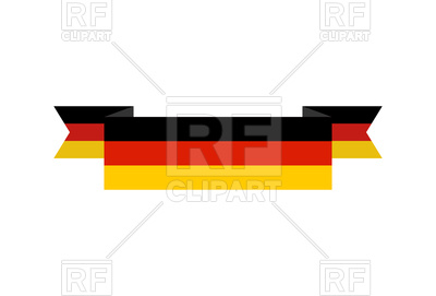 400x271 Germany Flag Banner Isolated On White Background Royalty Free