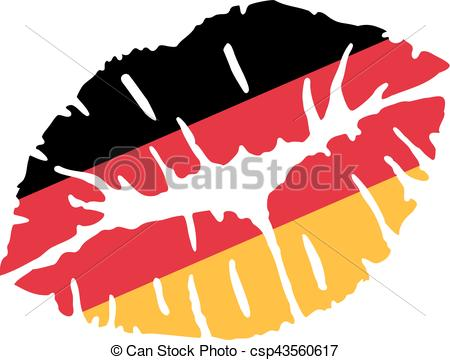 450x360 Germany Flag Kiss Vector Clip Art