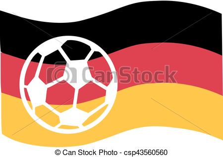 450x317 Germany Flag With Soccer Ball.