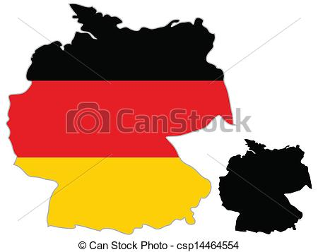 450x357 Germany Map Flag On A White Background. Vector Illustrator