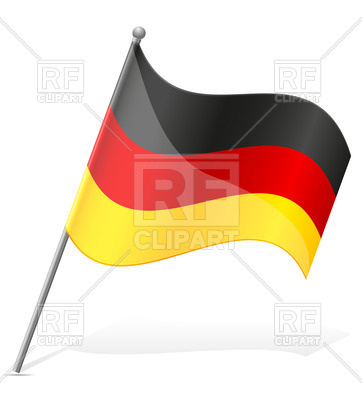 362x400 Icon Of Wavy Flag Of Germany Isolated On White Background Royalty
